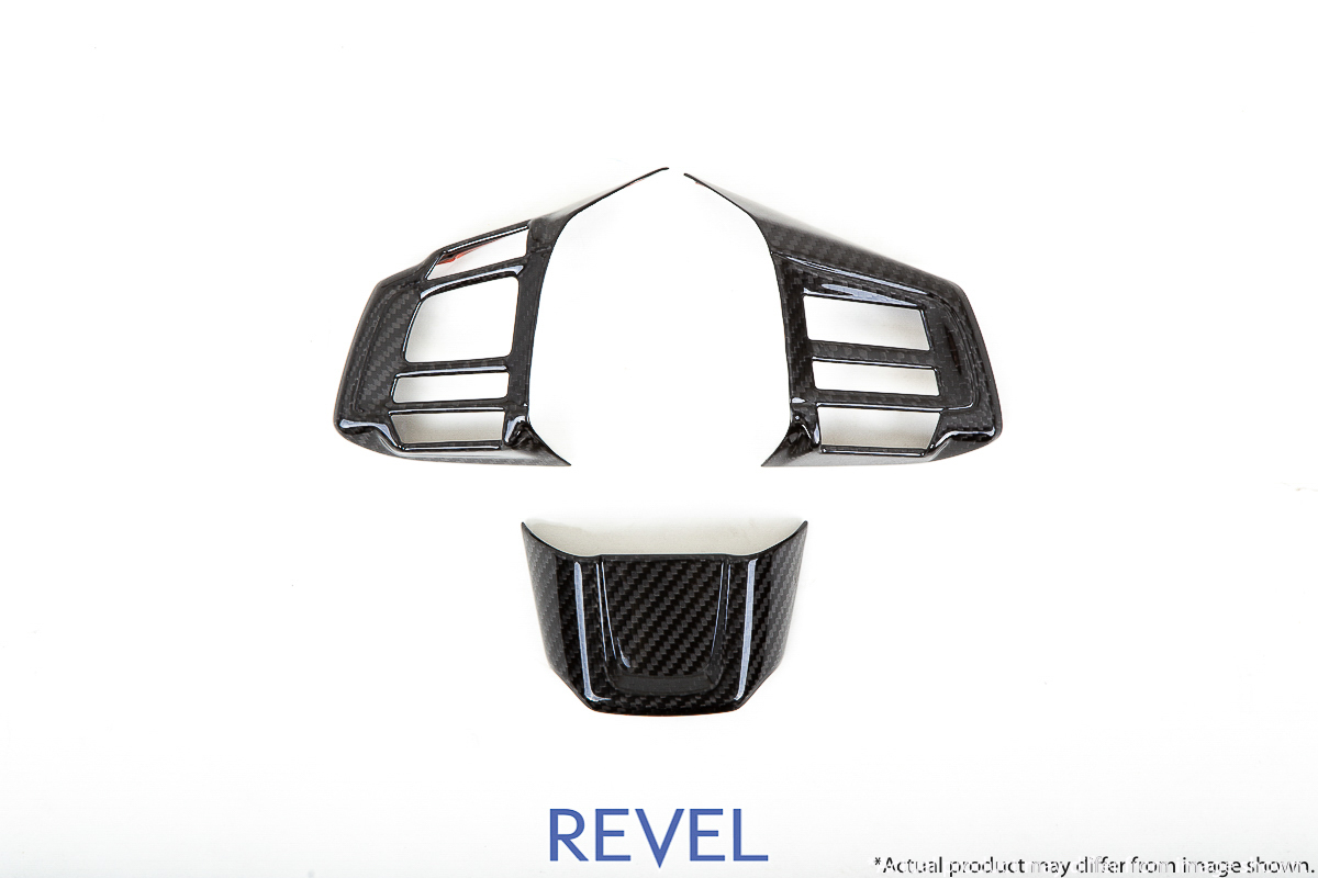 Revel GT Dry Carbon Steering Wheel Insert Cover Set for 15-18 Subaru WRX / STI